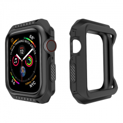 Silicone & PC hard armor case for Apple Watch 1-2-3-4