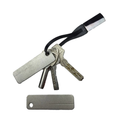 Diamond stone - knife sharpener with keychain