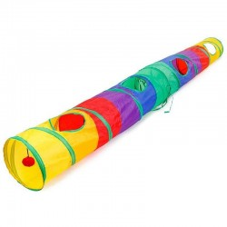 Colorful tunnel for pets - collapsible tube
