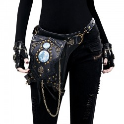 Shoulder - leg - waist - steampunk & gothic retro bag