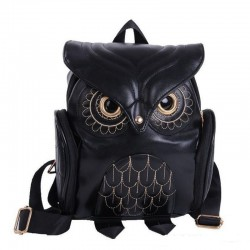 Waterproof backpack with owl pattern