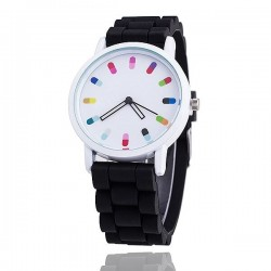 Fashion Quartz watch with silicone strap