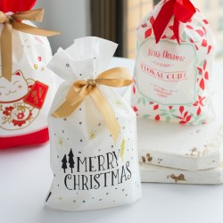 Christmas gift bags with drawstring 10 pieces