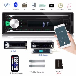 1 Din Bluetooth car radio - FM AUX SD USB MP3 MMC WMA