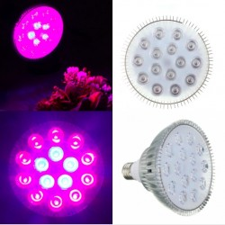 E27 45W LED Plant Grow Light Hydroponic Aluminium