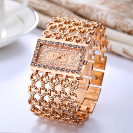 Luxury quartz watch - crystal bracelet