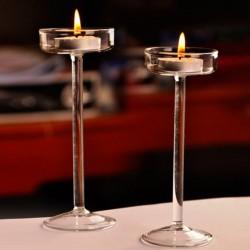 Elegant glass candle holder - stand