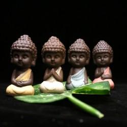 Piccolo Buddha - statua in ceramica - statuetta monaco