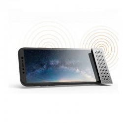 Mini phone holder with sound amplifier