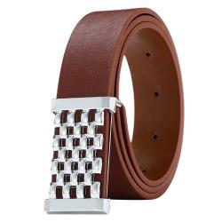 Metal Square Belt - Leather