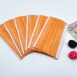 Disposable anti-bacterial medical face mask - mouth mask - 3 layer - orange