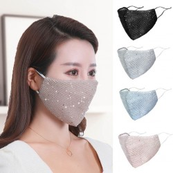 PM2.5 - anti-dust - anti-bacterial - reusable - face- / mouth mask with sequins - washable