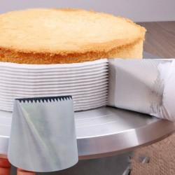 Ugello per glassa extra large in acciaio inossidabile - decorazione per torte alla panna
