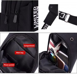 Luminous chest / shoulder bag - backpack - USB charging port