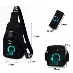 USB Charging - Chest Pack - Luminous - Bag - Shoulder Bag - Headphone