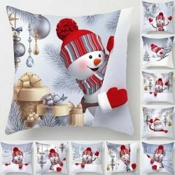 Christmas snowman - pillowcase - cushion cover - 45 * 45 cm
