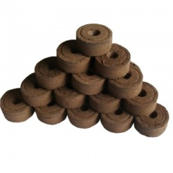 Peat pellets - seed nutrient soil - for transplanting / planting - 3 pieces