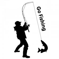 Go Fishing - car sticker - 9.2 * 15.2cm