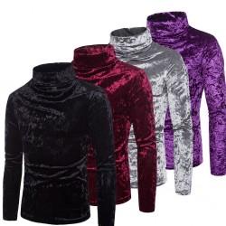 Warm turtleneck - sweater - shiny cotton