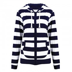 Striped hoodie - with zipper