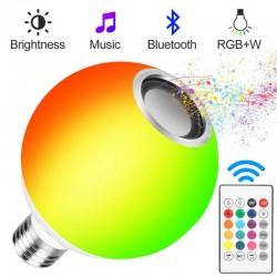 12W - E27 - RGB - LED bulb with Bluetooth speaker - remote control