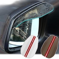 Specchietto retrovisore auto - specchietto laterale - visiera antipioggia - adesivo - 2 pezzi