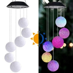 Solar powered - wind chimes - LED - hanging decoration