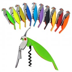 Wine bottle opener - corkscrew - parrot shaped