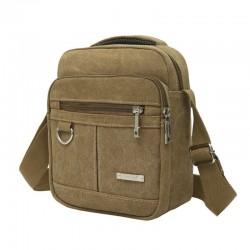 Canvas messenger shoulder bag