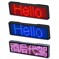 Digital LED badge - name tag - rechargeable - bluetooth