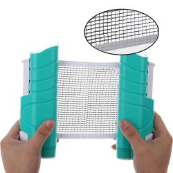 Table tennis net with bracket - retractable - portable