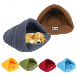 Soft polar fleece bed - small kennel house for dogs / cats