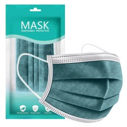 Mouth / face protective mask - antibacterial - disposable - green - 10 - 100 pieces