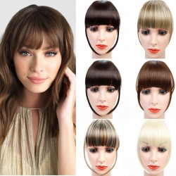 Synthetic hair fringe - with clip - volumising - extension - wig