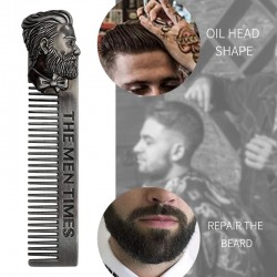 Barber styling - metal comb - for men's beard / mustache / hair