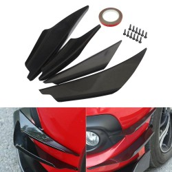 Universal - front bumper spoilers protector - black - 4 pieces