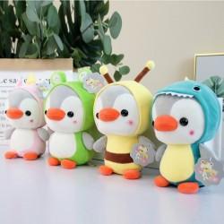 Small penguin - dressed as frog / unicorn / bee / dinosaur - plush toy - 23cm