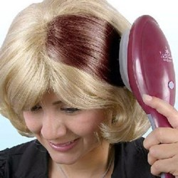 Electric hair dye comb