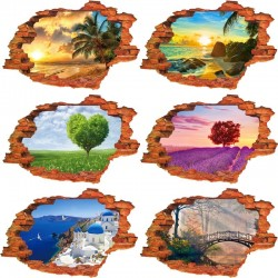 3D nature landscape - vinyl wall sticker