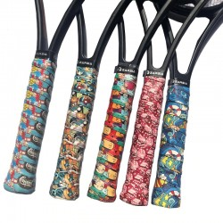 Tennis racket handle overgrips - with print
