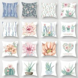 Cushion covers - single sided print - plant watercolor painting - 45 * 45cm