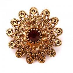 Vintage crystal flowers - antique brooch