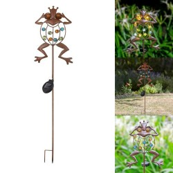 Frog shaped garden lamp - solar - waterproof