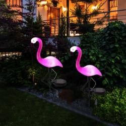 Solar garden lamp - waterproof - LED - neon - flamingo shape