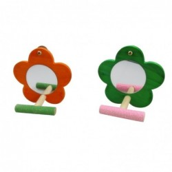Flower shaped mirror - with bench - birds toy