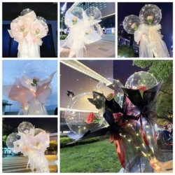 DIY rose balloons - with LED light - flower bouquet