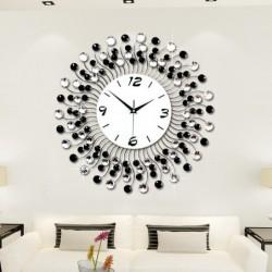 Modern iron wall clock - with crystal decoration - 36cm / 50cm
