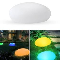Luminous stone - solar garden light - with remote control