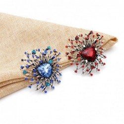 Shiny flower brooch - with crystals