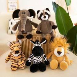 Animal shaped plush toys - elephant / tiger / fox / raccoon / monkey
